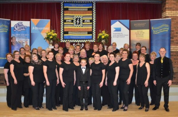 Affinity Show Choir Winner Barbershop Chorus & Tourism Ireland Trophy Best Choir outside the Island of Ireland